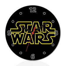 Star Wars Wood Wall Clock Home Office Room Decor Gift Round
