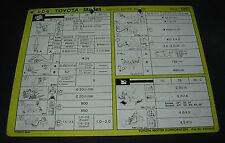Inspektionsblatt Toyota Starlet EP 70 / EP 71 76 Werkstatt Service Blatt 10/1986