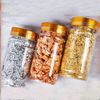 Gold Silver Foil Decorative Paper Shiny Sequins Glitters Jewelry Making JarFEH