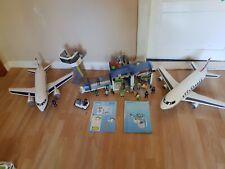 Playmobil Airport 4311 + 5261 avión con Tower, con muchos accesorios