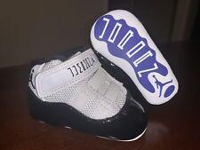 Baby Jordan 11 Retro 'Concord 2018' Soft Bottom Crib Shoes 378049-100 - Size 1C
