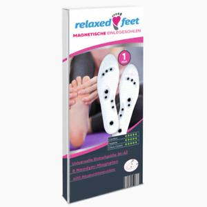 Relaxed Feet Magnetische Orthopädische Einlegesohlen auch für Arbeitsschuhe Gel