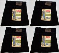 Wrangler Men's 5 Five Star Regular Fit Straight Leg Black Denim Jeans 34x32