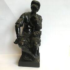 """Modelo De Bronce Antiguo reducción Sauvage Miguel Ángel """"Lorenzo de Medici"""" h 6.5"""""""