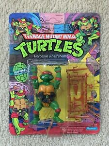 TMNT 1988 Ninja Turtles Raph Raphael Action Figure Toy MOC Sealed UNPUNCHED Nice