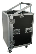 "Citronic 19"" Equipment 12U Rack Flightcase Cabinet with Wheels"