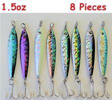 8 Pieces 1-1/2 oz Mega Live bait Metal Jigs Saltwater Fishing Lures 8 Colors