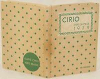 LIDIA MORELLI AGENDA PER LA CASA CIRIO 1939 RICETTE RECIPES KITCHEN CUISINE