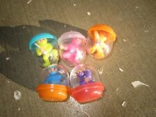 6 VINTAGE GUMBALL CHARMS PRIZES NINJA FIGHTERS DIFFERENT POSES LOT