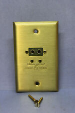 Winegard D-3FB Solid Brass TV Antenna Disconnect / Connect Wall Plate Input Jack
