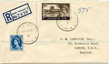 GB 1966 CASTLES 2/6 REGISTERED SOUTH NORWOOD TRAVELLER SKELETON POSTMARK