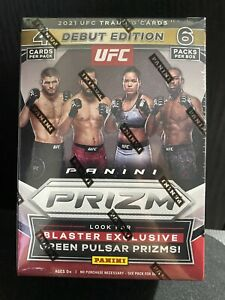 2021 Panini Prizm UFC Debut Edition Blaster Box - MMA 24 Trading Cards SEALED UK