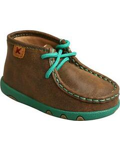 Twisted X Infant Turquoise Bomber Driving Mocs - ICA0008