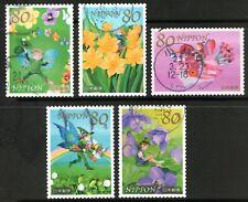Japan 2011 80y Spring Greetings set of 5 Fine Used