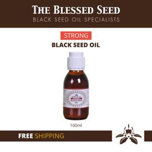 STRONG BLACK SEED OIL - Black Cumin Cold Pressed NIGELLA SATIVA UK Brand
