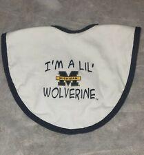 Michigan Wolverine Baby Bib