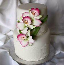 Sugar Butterfly Orchid Flower, Medium, Cake Topper, Gum Sugarpaste, Wedding