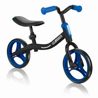 Globber GO BIKE Adjustable Balance Training Bike for Toddlers, Black and Blue