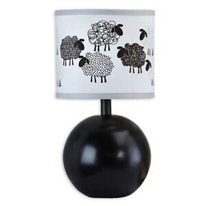 Good Night Sheep- Lamp & Shade (Black & White) by NoJo