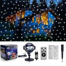 Schneefall LED Laser Licht Projektor Beleuchtung Weihnachtsdekoration Garten 💖