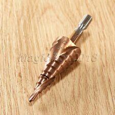 4-22mm Titanium Step Cone Spiral Groove Conical Drill HSS Bits Hole Cutter Tool