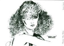 Photo Dessin Publicité Femme Coiffure Mode B. Valentini 78 /79  No 36
