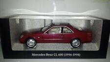 Norev 1:18 Mercedes-Benz CL 600 (C140) Almandine rood metallic nieuw