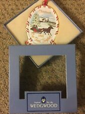 Wedgwood Our First Christmas Together White Jasper 1995 Ornament Nos