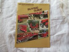 1983 Massey Ferguson MF implements buyers guide brochure
