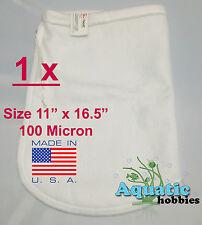 """1x Filter Bag 11"""" x 16.5"""" 100 Micron Felt Polypropylene Quality PecoFacet Sock"""
