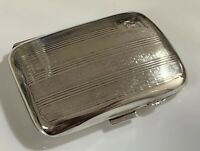 Beautiful Art Deco 1931 Birmingham Hallmarked Silver Cigarette Case-J H Wynn 49g