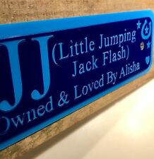 Personalised stable door horse name plaque sign plate any colours Custom To You