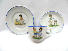 3 Piece Vintage Child's Miniature Pottery ~ Cup, Saucer & Plate
