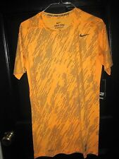 Nike  Pro-Combat Super Natural Training Shirt Men's Sz.M Orange 698722 801