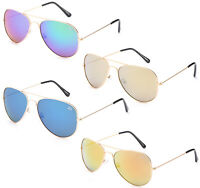 Wholesale Lot Aviator Sunglasses Bulk 12 Pairs Flash Mirrored Lens Metal Frame