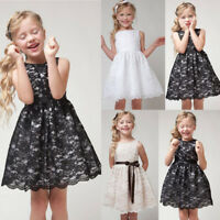 Flower Girl Dress Kids Birthday Pageant Wedding Bridesmaid Gown Formal Dresses