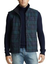 NWT-POLO RALPH LAUREN Men's Softshell Blackwatch Plaid Water-Repellent Vest - S