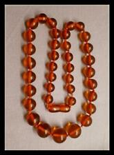 ANTIQUE NATURAL  BALTIC  AMBER  NECKLACE 30 grs 37 BEADS NICE SCREW CLASP