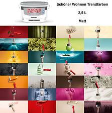 Schöner Wohnen Trendfarbe Matt 2,5L Wandfarbe Farbwahl Innenfarbe NEUWARE