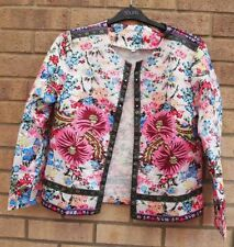 Silk Blazer Floral Plus Size Coats & Jackets for Women