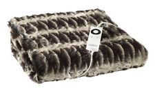 Sunbeam TR6300 Feel 6 Heat Control Luxe Faux Fur Heated Throw