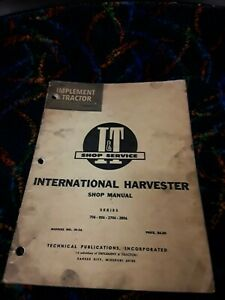 I&T Shop Service Repair Manual IH-32 International Harvester  706 806 2706 2806