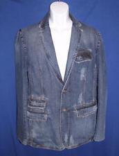 Dolce & Gabbana Distressed Denim Jeans Blazer Jacket Size 36 50