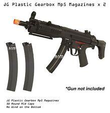 2 x JG Airsoft 50 Round Standard Magazine Plastic Gearbox AEG Mp5 mp5k