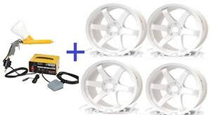 Powder Coating System + 4 LB White Paint Auto Truck Car Equipment Tool Repair