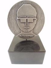 France 1972 Yves Millecamps Sterling Silver Art Medal 63mm 202g Silver/925