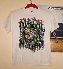 Metal Mulisha t-shirt té Cross nuevo Destroyer freeride MX MTB Biker quad blanco M