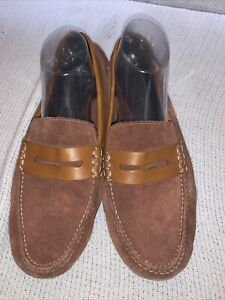 Cole Haan N Air Brown Grant Driving Mic Suede Volt Loafer Size 10.5
