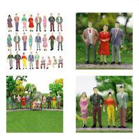 100pcs Miniature Model Railway Painted Train Street Layout Figures People 1:150