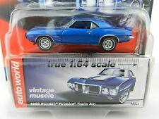 2017 AUTO WORLD 1:64 *PREMIUM 1B* BLUE 1969 Pontiac Firebird Trans Am *NIP*